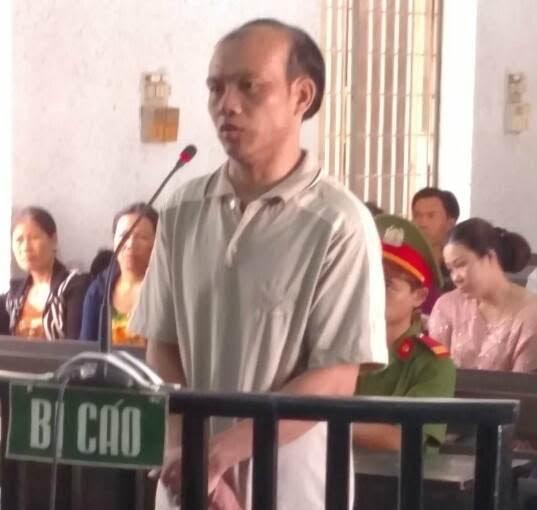 Phạm Anh Tình tại phiên xét xử.