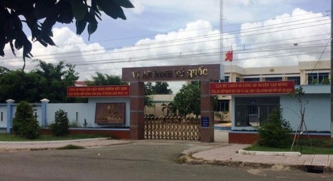 Trụ sở Công an huyện Tân Hưng.
