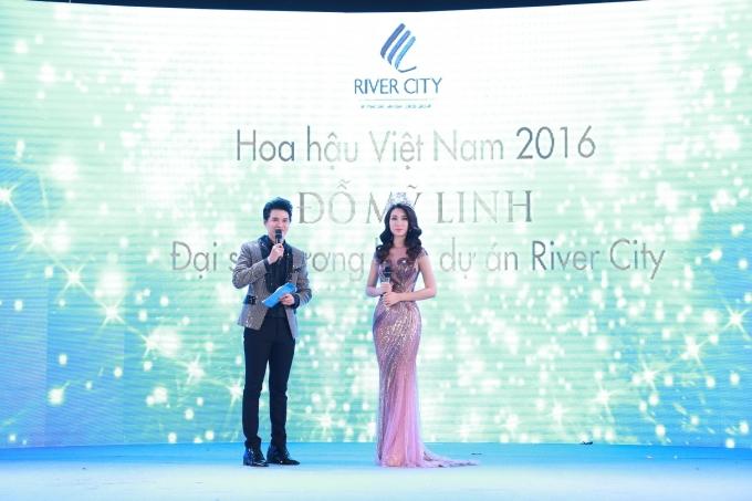 Tân Hoa hậu Đỗ Mỹ Linh tại Lễ ra mắt The Opera.