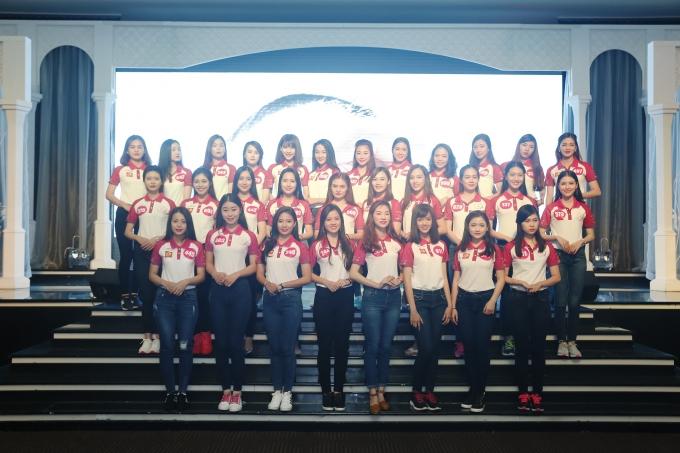 Top 30 thí sinh xuất sắc nhất của cuộc thi Nữ sinh viên Việt Nam duyên dáng - VMU 2016.