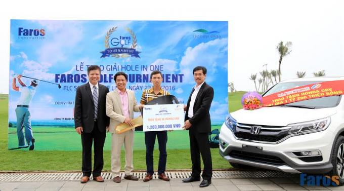 Golfer Phạm Vĩnh Hà thắng giải HIO tại FLC Faros Golf Tournament 2016.