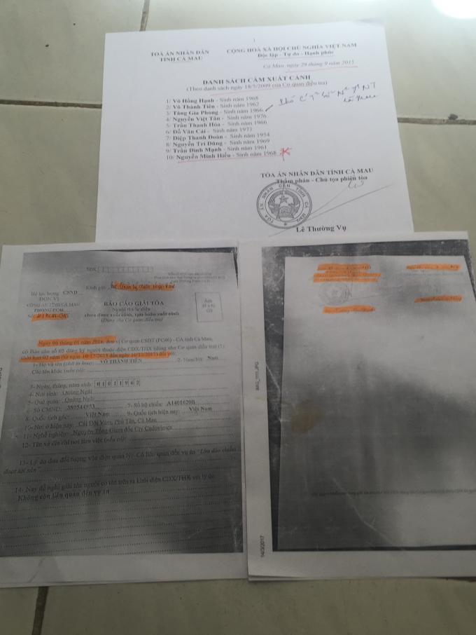 Công an tỉnh Cà Mau cấm xuất cảnh công dân tùy tiện?