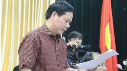 Ông Trương Quý Dương, Giám đốc bệnh viện Đa khoa Hoà Bình. (Ảnh Tiền Phong)