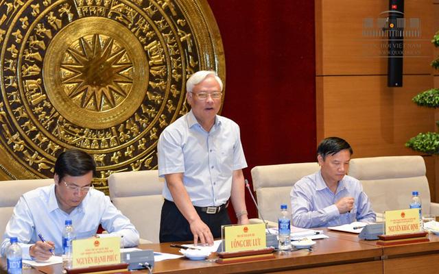 Phó Chủ tịch Quốc hội Uông Chu Lưu - Trưởng Đoàn giám sát chủ trì phiên họp của Đoàn giám sát ngày 28/7 vừa qua (ảnh: Quochoi.vn)