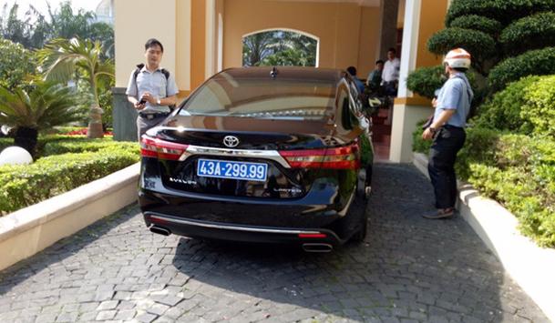 Chiếc xe biển xanh ông Nguyễn Xuân anh từng sử dụng do một doanh nghiệp tặng. (Ảnh: VTC)