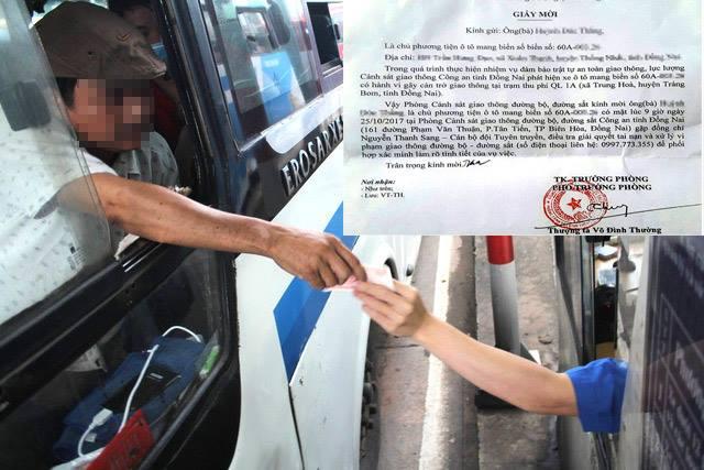Từ giấy mời của Phòng CSGT Đường bộ - Đường sắt Đồng Nai, dư luận thắc mắc về lý lịch của Thượng tá Võ Đình Thường. (Ảnh: Dân trí)