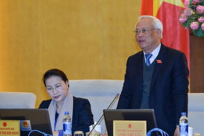 Phó Chủ tịch Quốc hội Uông Chu Lưu phát biểu tại phiên họp của Ủy ban thường vụ Quốc hội (Ảnh: QH)