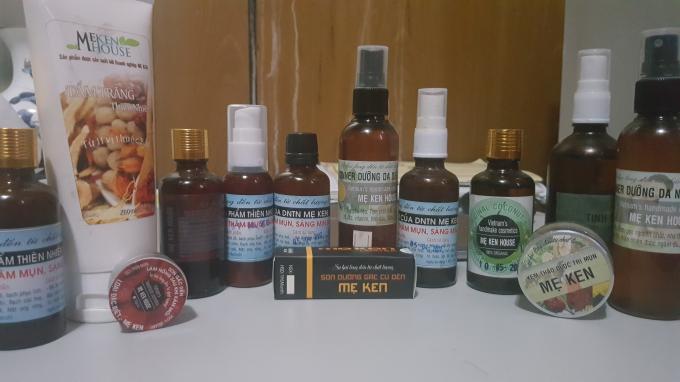 Một số sản phẩm mang thương hiệu Mẹ Ken.