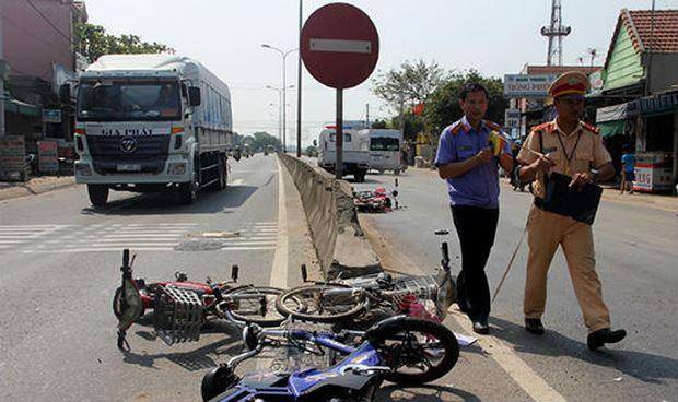 Xe đạp điện tai nạn.