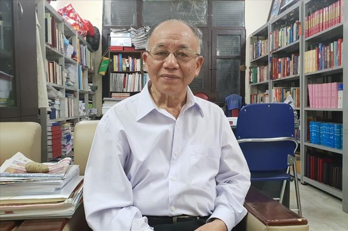 GS Hoàng Chí Bảo - chuyên gia cao cấp của Học viện Chính trị Quốc gia Hồ Chí Minh. Ảnh: Huyên Nguyễn