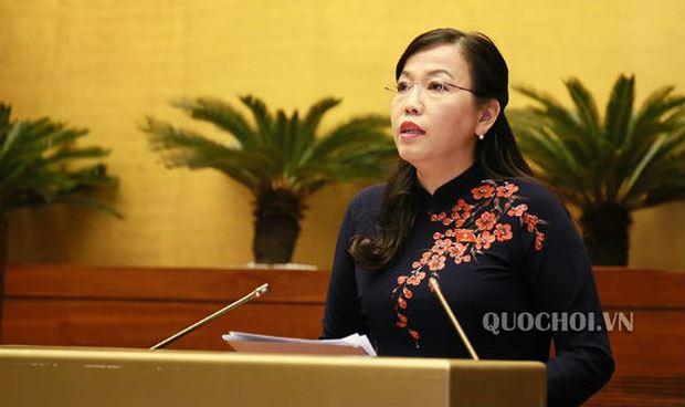 Trưởng Ban Dân nguyện của Ủy ban thường vụ Quốc hội Nguyễn Thanh Hải trình bày báo cáo tại phiên họp.