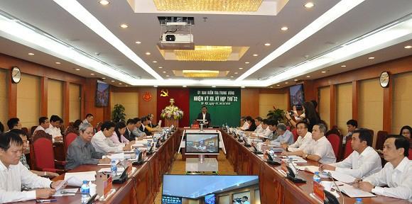 Ủy ban Kiểm tra Trung ương họp kỳ 32.
