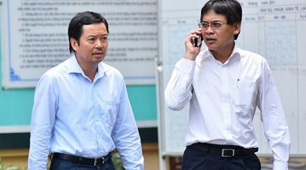 Các bị can Từ Thành Nghĩa (phải) và Võ Quang Huy. Ảnh: dantri.com.vn