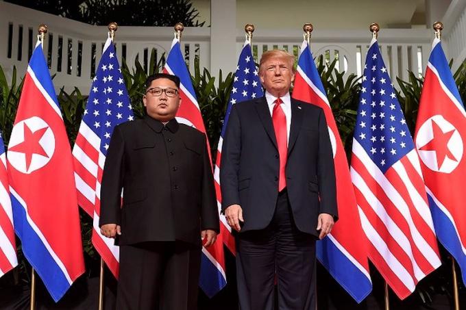 Tổng thống Mỹ Trump và nhà lãnh đạo Triều Tiên Kim Jong-un.