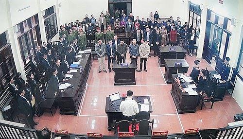 Quang cảnh phiên tòa hôm 8/1/2019.