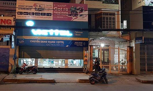 Cửa hàng Viettel nơi xảy ra vụ cướp có hung khí.