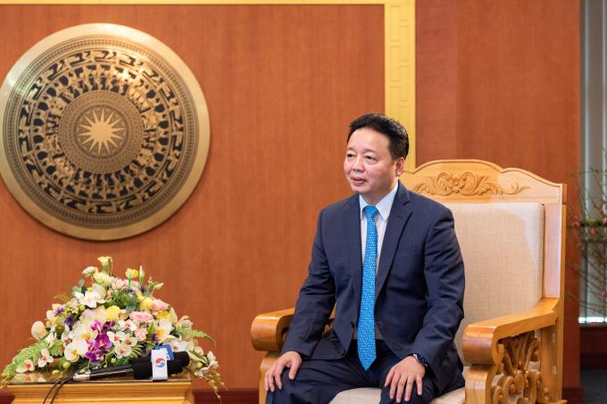 Bộ trưởng Bộ Tài nguyên và Môi trường Trần Hồng Hà. Ảnh: VGP/Trần Văn
