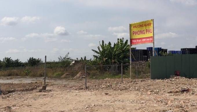 Dự án Khu công nghiệp Phong Phú rất quy mô và bề thế đã bị