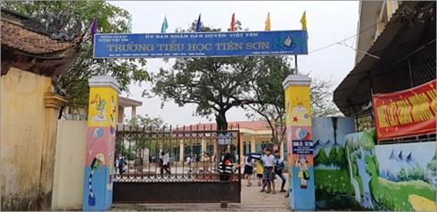 Trường tiểu học Tiên Sơn, huyện Việt Yên, tỉnh Bắc Giang - nơi có thầy giáo bị tố cáo dâm ô với nhiều học sinh gái (Ảnh: Zing.vn)