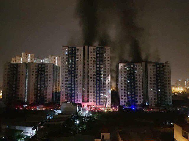 Vụ cháy chung cư Carina vào năm 2018 khiến 13 người tử vong (ảnh: Đình Thảo)