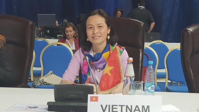 Đại sứ Việt Nam tại UNESCO Trần Thị Hoàng Mai.