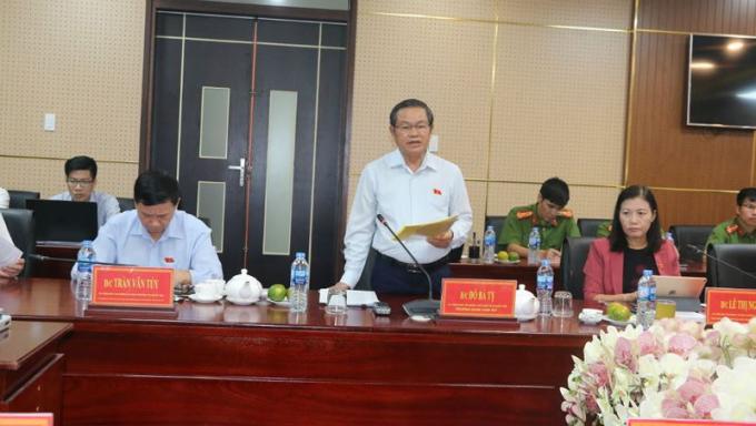 Phó Chủ tịch Quốc hội Đỗ Bá Tỵ dẫn đầu đoàn công tác của Quốc hội đã làm việc với UBND tỉnh Đồng Nai.
