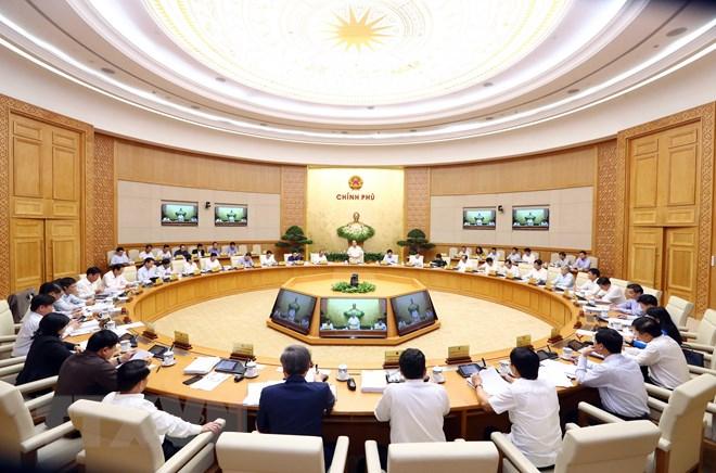 Toàn cảnh phiên họp Chính phủ thường kỳ tháng 4. (Ảnh: Thống Nhất/TTXVN)