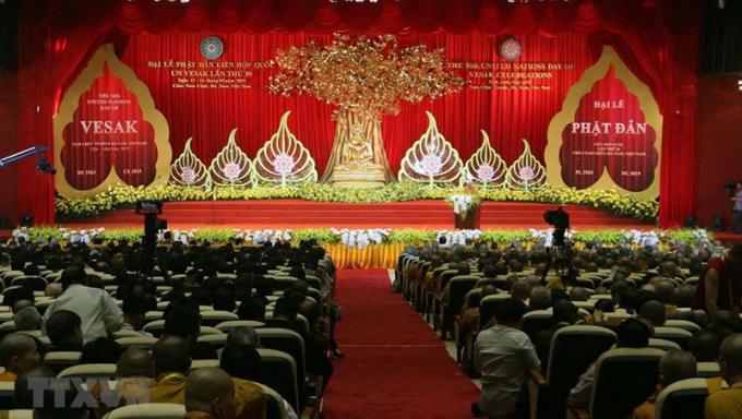 Toàn cảnh khai mạc Đại lễ Phật đản Liên Hợp quốc Vesak 2019.