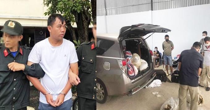 Đối tượng Liu Ming Yang bị bắt giữ cùng tang vật.