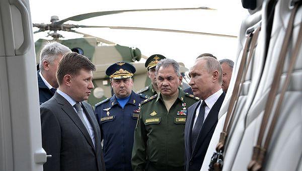 Tổng thống Nga tại buổi làm việc.