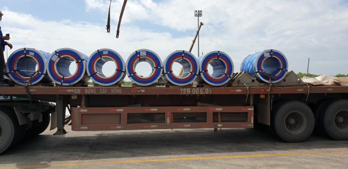Tháng 7/2019, Nhà máy tôn Pomina đã chính thức xuất xưởng tôn cuộn thành phẩm đầu tiên.