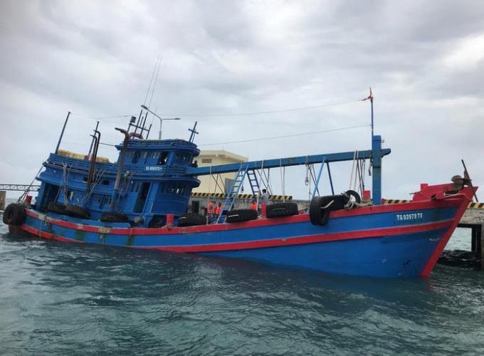 Bộ Tư lệnh Vùng Cảnh sát biển 3 đã đưa tàu TG 9397 TS về cảng Hải đội 33 để tiếp tục điều tra xử lý theo quy định.
