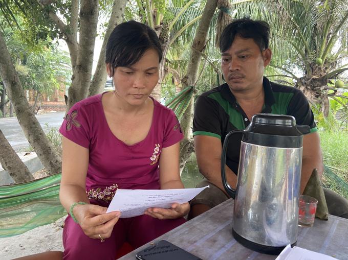 vợ chồng bà Liên gửi đơn tố cáo lên Báo PLVN