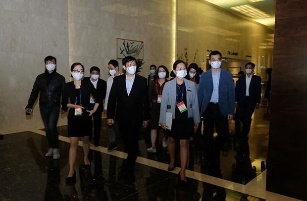 Bộ trưởng Bộ Y tế Nguyễn Thanh Long đã trực tiếp đi kiểm tra công tác y tế phục vụ Đại hội Đại biểu toàn quốc của Đảng lần thứ XIII. (Ảnh: PV/Vietnam+)
