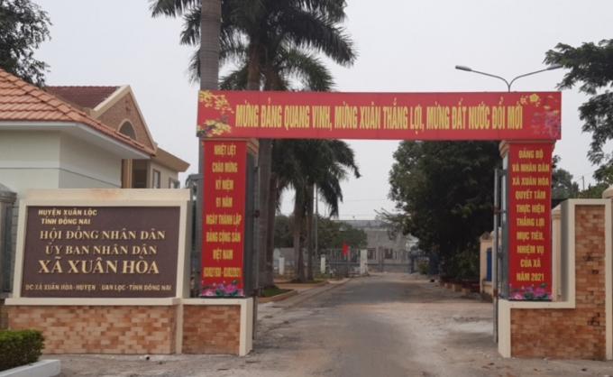 UBND xã Xuân Hòa, nơi bà Nguyễn Thị Hải Yến mượn danh Cán bộ Hội Phụ nữ để chiếm dụng tiền của nhiều người dân