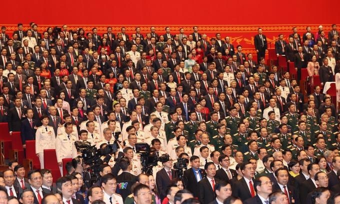 Đại biểu tham dự phiên khai mạc Đại hội. (Ảnh: TTXVN)