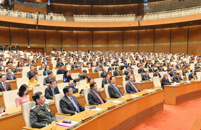Các đại biểu tham dự Phiên khai mạc kỳ họp thứ 11, Quốc hội khóa XIV
