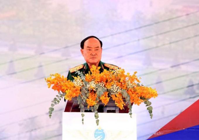 Thượng tướng Trần Đơn - Thứ trưởng Bộ Quốc phòng phát biểu tại buổi lễ.