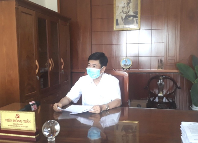 Ông Viên Hồng Tiến- Bí thư Huyện ủy Xuân Lộc, Trưởng Ban Chỉ đạo công tác phòng, chống dịch Covid-19 huyện.