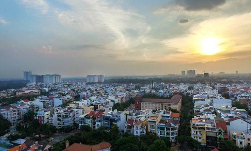 Nhà phố tại khu Nam Sài Gòn. Ảnh:Lucas Nguyễn