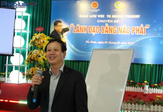 Ông Đinh Văn Hồng,Chủ tịch Hiệp hội doanh nghiệp tỉnh Hà Nam.(Ảnh: Đức Biên)