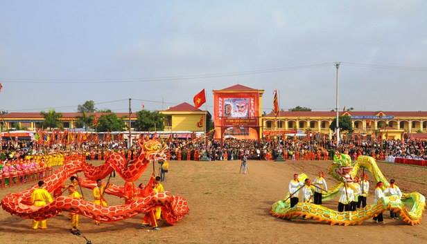Lễ hội tịch điền tại Hà Nam.