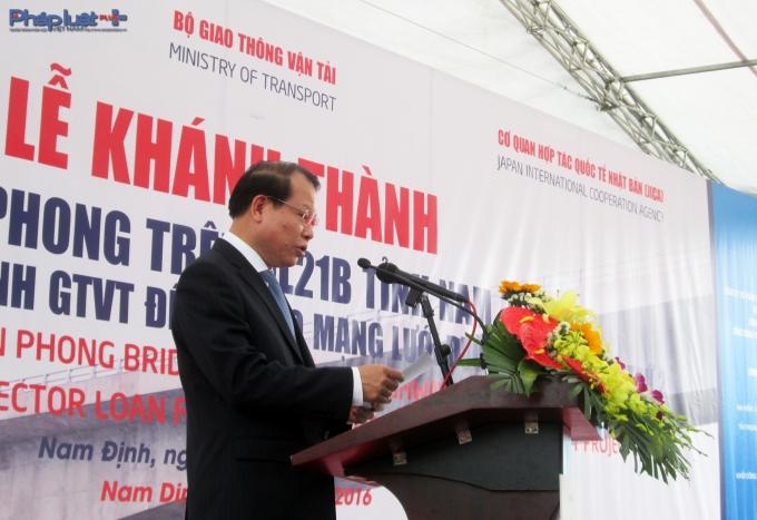 Phó Thủ tướng Vũ Văn Ninh phát biểu tại buỗi lễ.