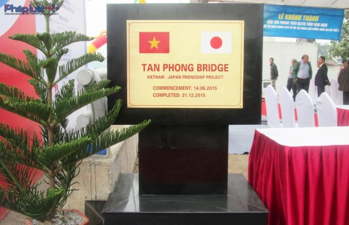 Cầu Tân Phong được xây dựng bằng nguồn vốn vay ODA.