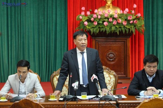 Ông Tô Văn Động, Giám đốc Sở Văn hoá - Thể thao Hà Nội thông tin về các hoạt độngvăn hoá, nghệ thuật sắp tới. (Ảnh: Đức Biên)