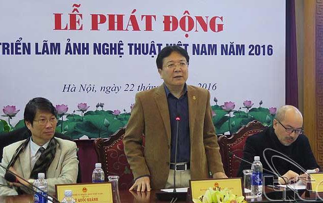 Thứ trưởng Bộ Văn hóa, Thể thao và Du lịch -Vương Duy Biên phát biểu tại buổi lễ.
