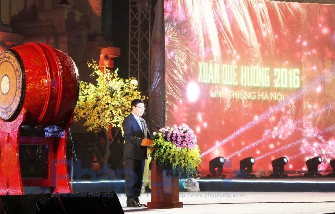Phó Thủ tướng phát biểu khai mạc chương trình. (Ảnh: Đức Biên)