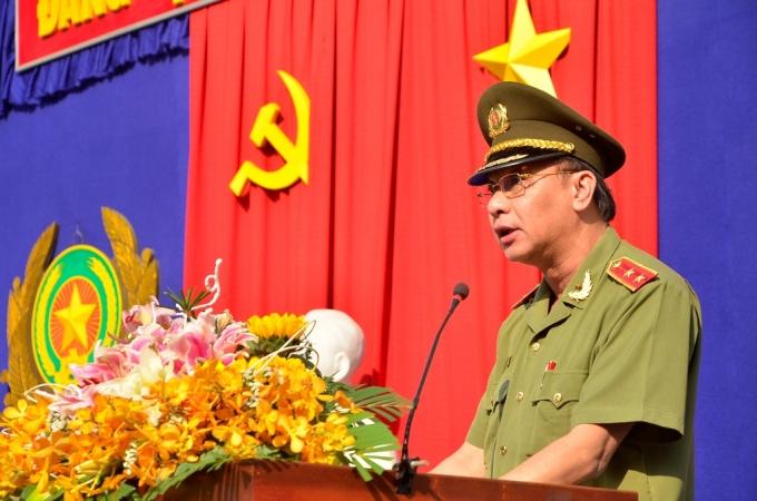 Trung tướng Lê Đông Phong - Giám đốc Công an TP. HCM phát biểu tại buổi lễ.