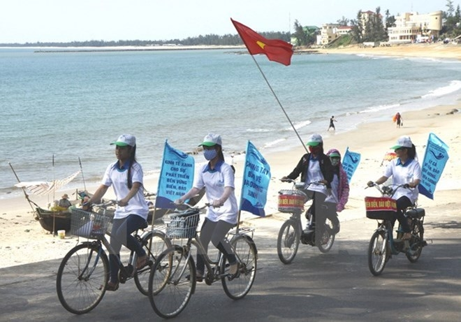 Lễ mít tinh quốc gia hưởng ứng Tuần lễ Biển và Hải đảo Việt Nam năm 2016 tổ chức vào ngày 8/6. (Ảnh minh họa: nguồn TTXVN)