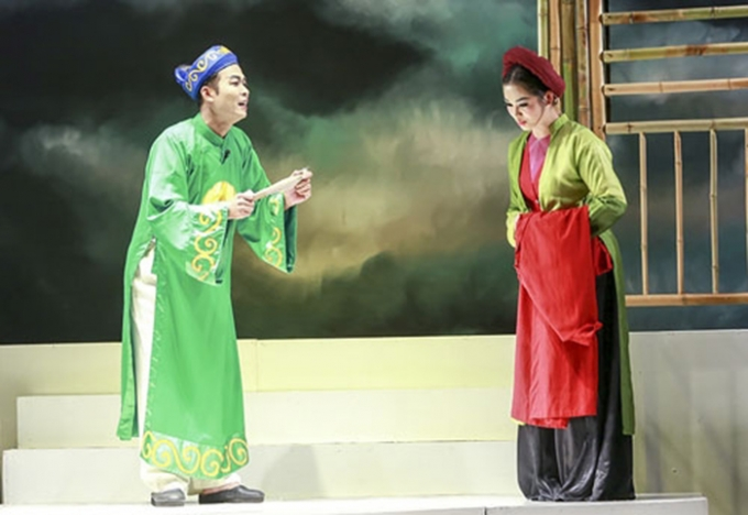 Chàng sỹ tử và hoa tình yêu kể về mối tình của chàng học trò nghèo Tuấn Long và cô thôn nữ xinh đẹp Hạ Vân. Ảnh: Internet